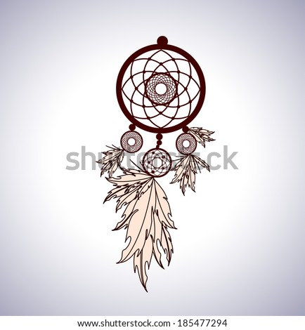 Dreamcatcher-Vector Illustration  - stock vector