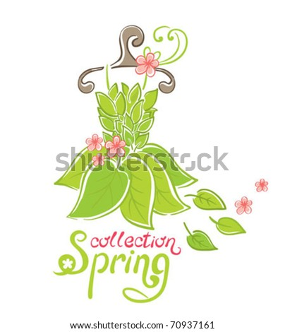Dress - Spring Collection - stock vector