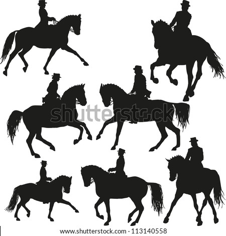 Dressage vector set