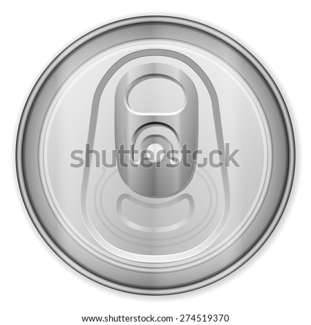 Drink can top on a white background. - stock vector