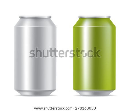 drink cans - stock vector
