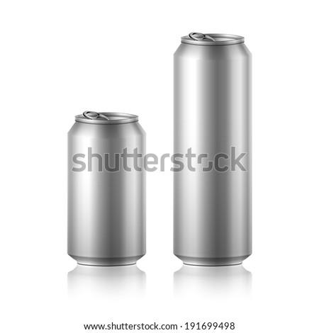 drink foods cola beer aluminum soda - stock vector