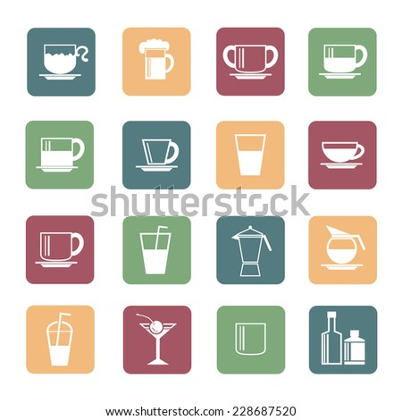 drink icon - stock vector