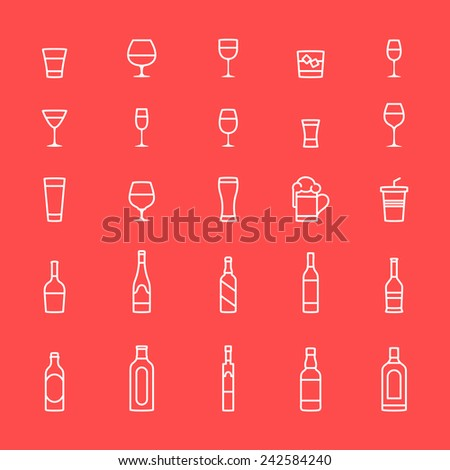 Drink icons  - stock vector
