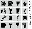 Drink icons set - stock photo