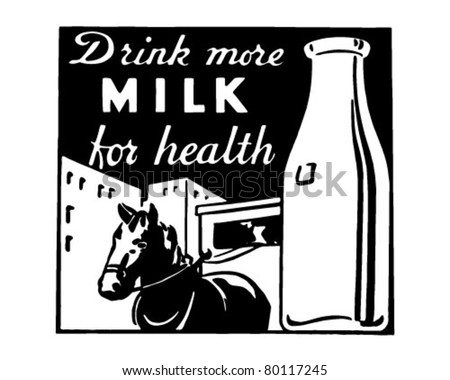 Drink More Milk - Retro Ad Art Banner