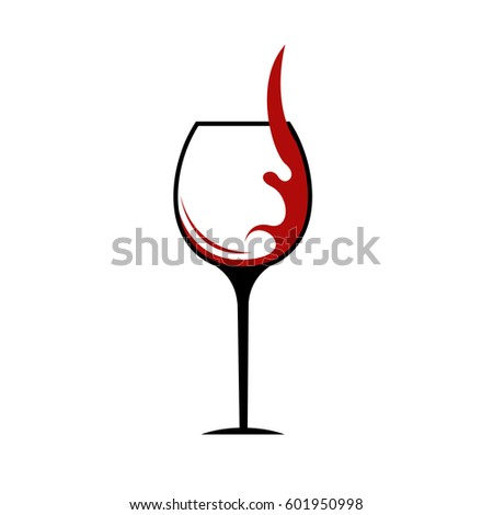abstract red wine logo wine glass stock vector 329082992