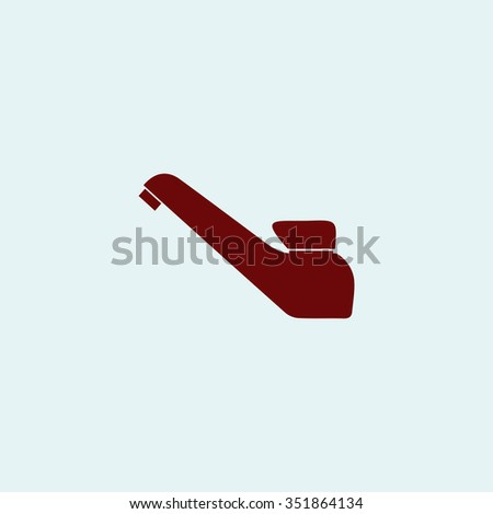 Drinking faucet. Red vector icon. Simple modern illustration pictogram. Collection concept symbol for infographic project and logo - stock vector