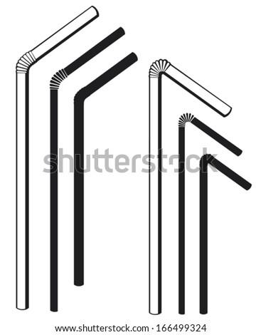 drinking straws  - stock vector