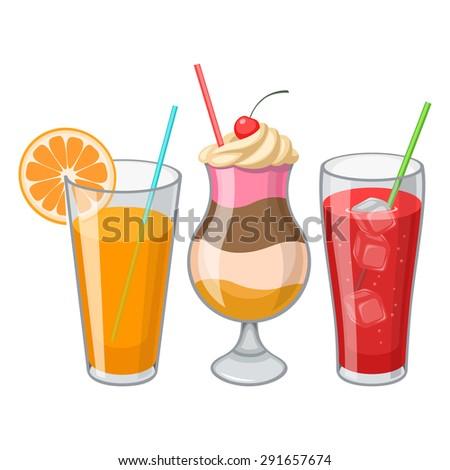 Drinks - stock vector