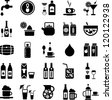 Drinks and beverages icons - stock vector
