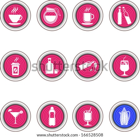 drinks & beverages icons set - stock vector
