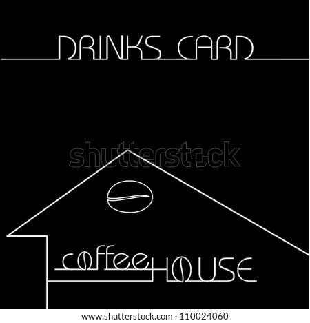 Drinks card - stock vector