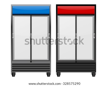 Drinks Glass Freezer Isolated on White - stock vector