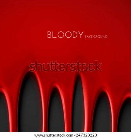 Dripping blood background, eps 10 - stock vector