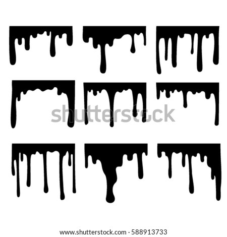 dripping liquid 01 stock vector 588913733 - shutterstock
