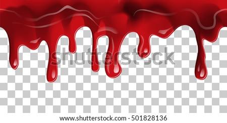 dripping seamless blood flow liquid drip stock vector 501828136