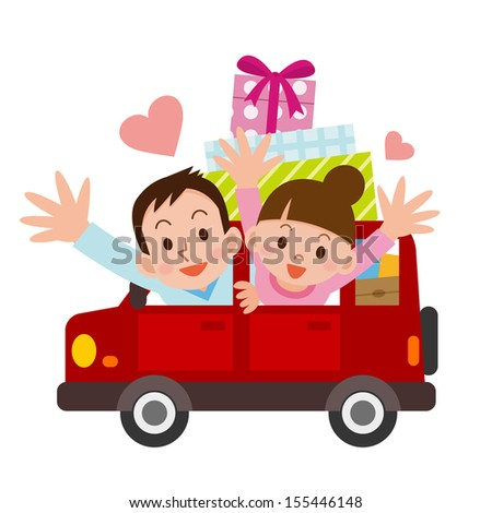 Drive Dating - stock vector