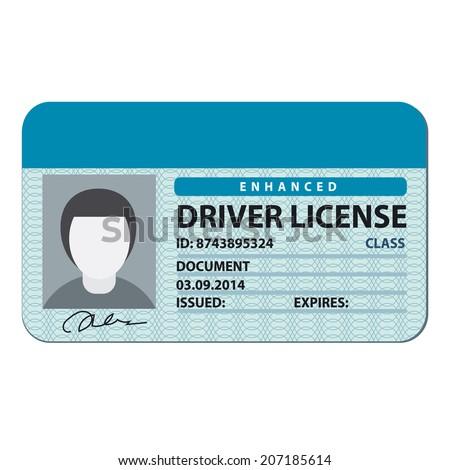 driver license - stock vector