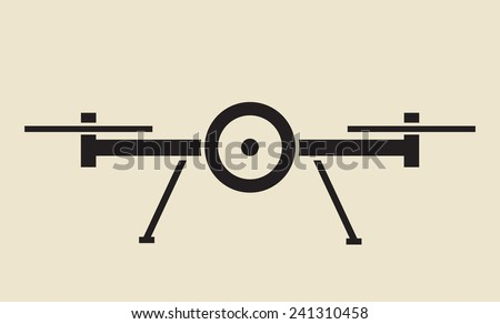 drone - unmanned aerial vehicle icon - stock vector