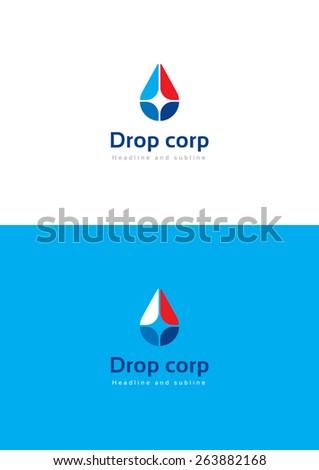 Drop corporation logo teamplate. - stock vector