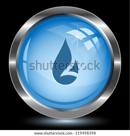 Drop. Internet button. Vector illustration. - stock vector