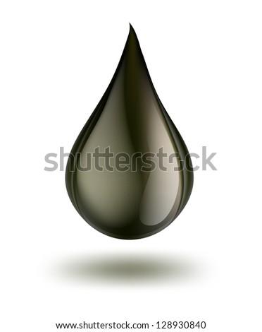 drop of petrol - stock vector