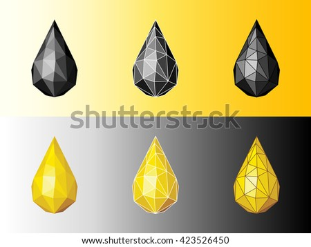 Drop of  petroleum and oil.  - stock vector