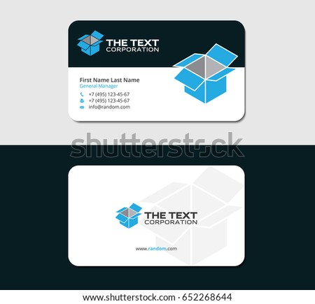 modern creative simple business card black stock vector 285055184 shutterstock. Black Bedroom Furniture Sets. Home Design Ideas