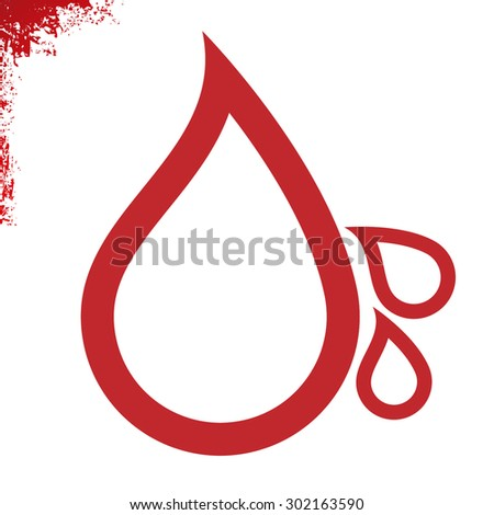 Drops of blood simply sign