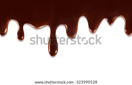 Drops of melted chocolate. Vector Illustration - stock vector