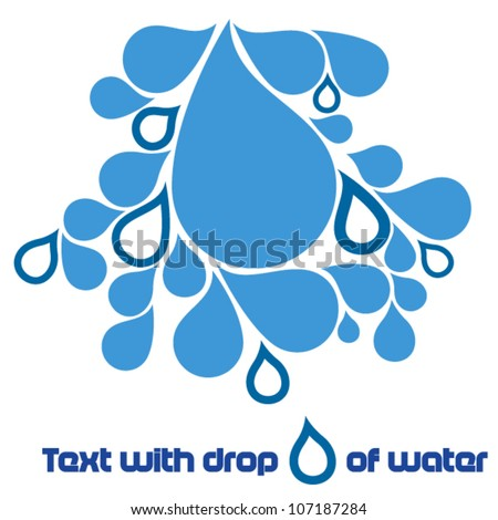 Drops of water - stock vector
