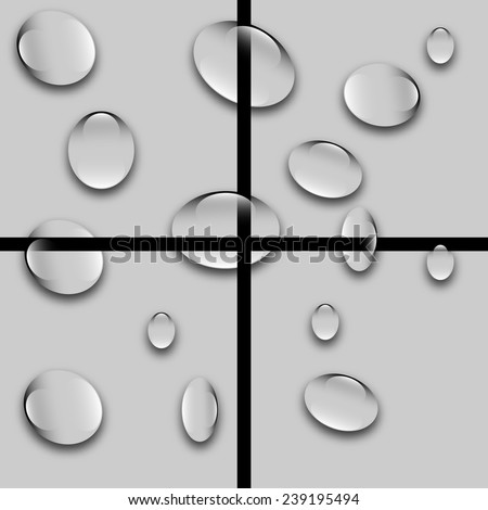 drops of water on the tiles