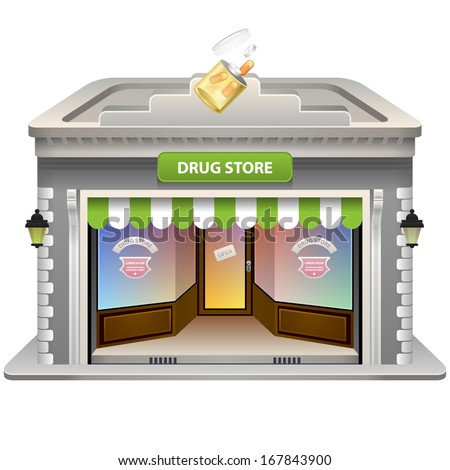 Drug Store icon. Vector illustration. Eps 10.