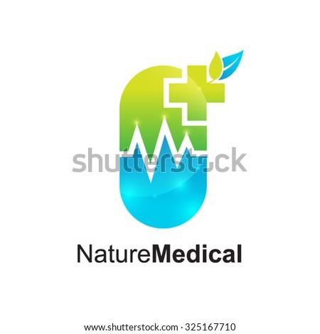 Drugs store logo,Medical pharmacy,Medical Cross Logo Pharmacy natural eco Clinic design vector template. Medicine Health care Logotype. Ecology Green Healthcare icon - stock vector