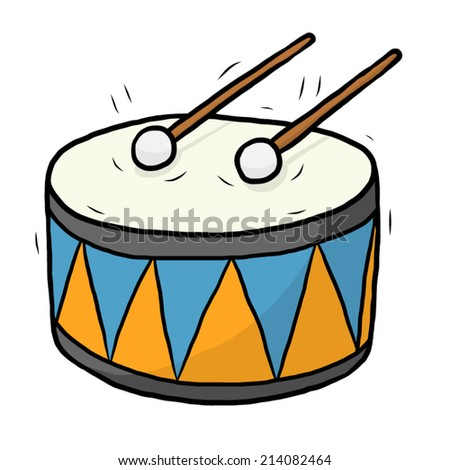 drum / cartoon vector and illustration, hand drawn style ...