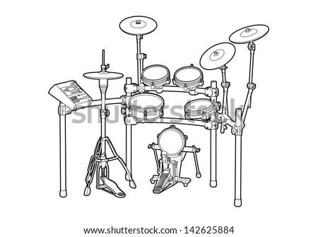 Drum kit - stock vector