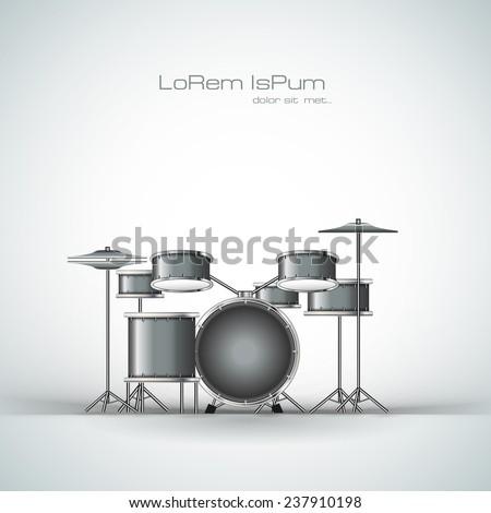 Drum vector illustration - stock vector