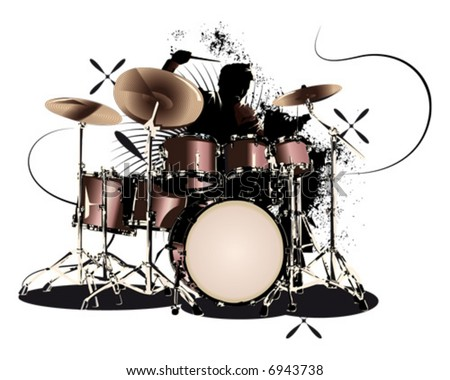 drummer-illu - stock vector