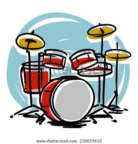 Drums - stock vector