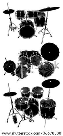 Drums Vector 03 - stock vector