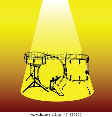 drums vector - stock vector