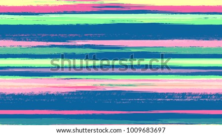 Dry Brush Grunge Strokes and Stripes Background. Paintbrush Lines Seamless Pattern. Painted Watercolor Style Texture. Cloth, Linen, Textile Print Design Background.