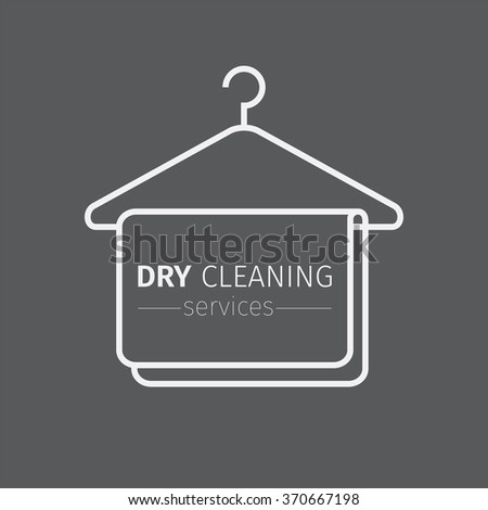 Dry cleaning service. Clothes hanger symbol. - stock vector