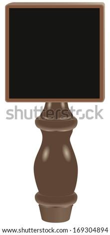 Dry erase tap board Beer Tap Handle. Vector illustration. - stock vector