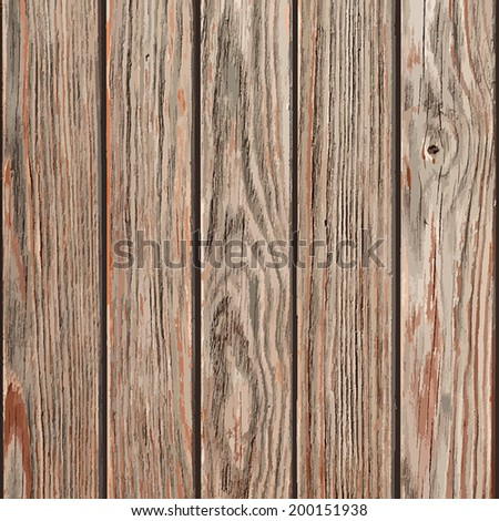 Dry Wooden Planks background for your design. EPS10 vector. - stock vector