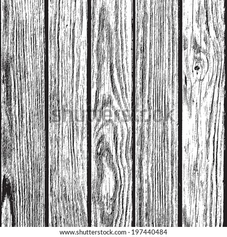 Dry Wooden Planks overlay background for your design. EPS10 vector. - stock vector