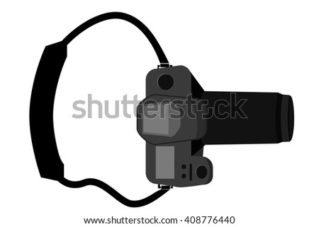 DSLR - View From Top   - stock vector