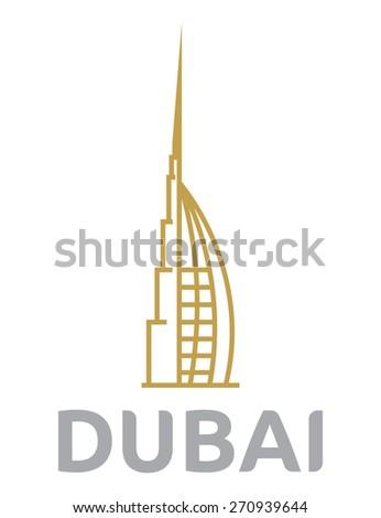 Dubai vector icon symbol - stock vector