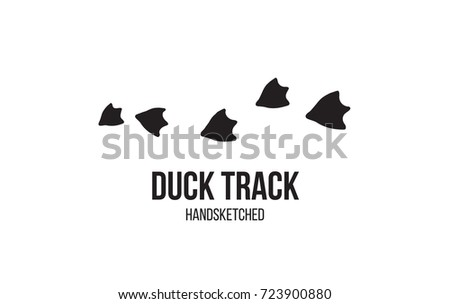 duck footprint track isolated on white stock vector royalty free